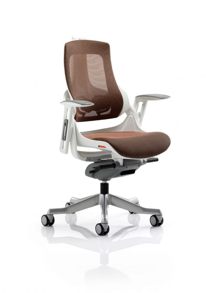 Zure Executive Task Chair Orthopaedic Designed Office Seat & Back in Mandarin Mesh